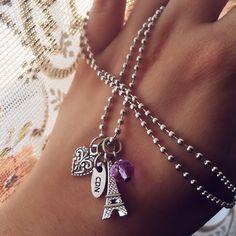 2576b7267331 Collar París by Cabecita de Novia Accesorios torre Eiffel collares cristal  cristales bijou pulsera pulseras Argentina
