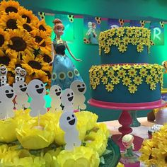 festa frozen, febre congelante, decoração infantil. festa infantil, mesa de…