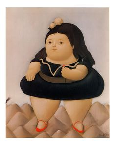 Tour Of The Volcano by Fernando Botero Print