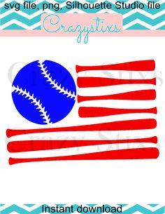 Baseball flag,svg file, png, silhouette studio file, child svg, svg files for silhouette cameo by CrazyStixs on Etsy https://www.etsy.com/listing/288208977/baseball-flagsvg-file-png-silhouette