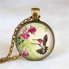 HUMMINGBIRD  Necklace Hummingbird Jewelry by VintageVampJewels