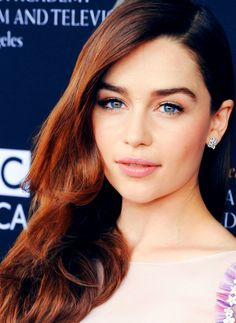 Emilia Clarke. Okay, but can I look like you please? Or at the very least, have your eyebrows? Gorgeous!