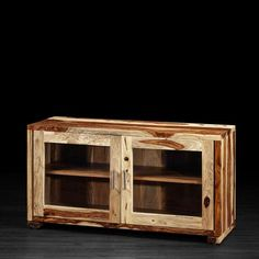 Sandy Tv Unit with 2 Glass Doors