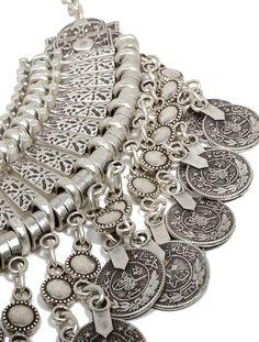Ribbed Coin Collar