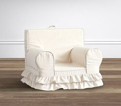 Metallic Linen Ruffle Anywhere Chair® #pbkids