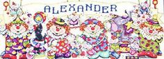 Design Works 'Circus Time' Counted Cross Stitch Kit © Joan Elliott - Clowns