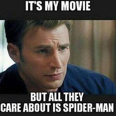 """I'm still with ya, Cap! Via @epiccomicpics #captainamerica #ironman #spiderman…"