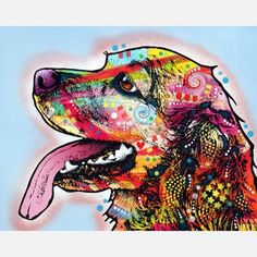 Cocker Spaniel lovers will recognize the delighted expression on this sweet guy's face. A beautiful Pop Art tribute by artist Dean Russo, this print can give your wall a touch of artful charm.  $13