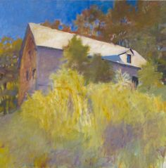 """The Barn as a Ship,"" Wolf Kahn, 1979, oil on canvas, 52 x 52"", Colby College Museum of Art."