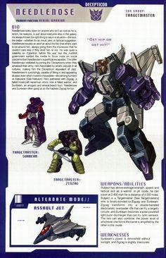 Transformers: Decepticons Targetmaster - Needlenose w/ Sunbeam & Zigzag Transformers Decepticons, Transformers Characters, Transformers Robots, Comic Book Characters, Comic Books, Transformers Generation 1, Ex Machina, Anime, Lotr