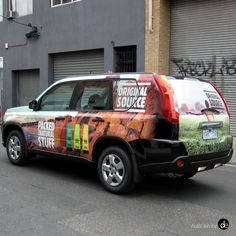 Original Source vehicle wrap, graphics by 2Fish #fullvehiclewrap #3M #SUVvehiclewrap