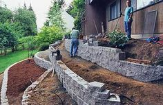Terracing landscape ideas-maybe on a much smaller scale