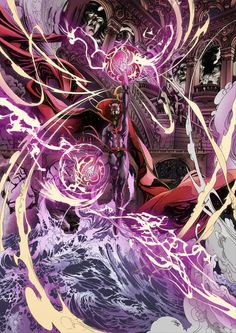 Zeropointfive's illustrative powers never fail to marvel. Heros Comics, Marvel Comics Art, Marvel Heroes, Marvel Comic Character, Marvel Characters, Comic Books Art, Comic Art, Doc Strange, Hulk