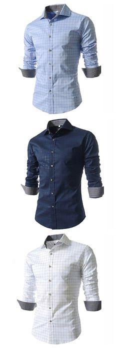 MMCP Mens Casual 3D Print Regular Fit Short Sleeve Button Down Dress Work Shirt