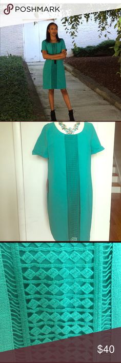 The Limited green summer dress Super cute green dress. Bought during the summer by never wore it :( The Limited Dresses