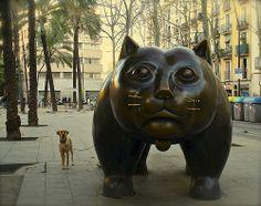Perro y Gato en la Rambla del Lion Sculpture, The Incredibles, Dogs, Nature, Animals, Beautiful, Instagram, Barcelona Spain, Google