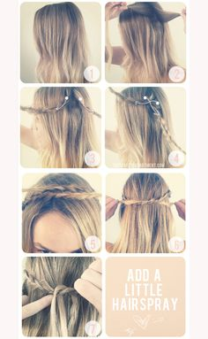 crown braid always looks weird on me, i'll have to give this version a try My Hairstyle, Pretty Hairstyles, Braided Hairstyles, Summer Hairstyles, Amazing Hairstyles, Fast Hairstyles, Popular Hairstyles, Headband Hairstyles, Tips Belleza