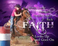 Barrel Racing Faith Photo Art_color on Etsy, $2.75