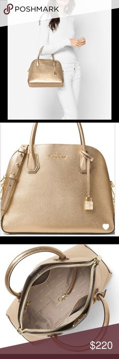 661d668d6ec8 MK MICHAEL KORS Mercer Large Dome Satchel Handbag Add sleek chicness to  your evening ensemble with