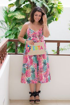 Timeless Optimist fashion blog | pink, petite fashion, blogger, ootd, ootn, pineapple print dress, wedding season, dress, women fashion, summer outfits, wedding guest, style, mexico vacation outfits, cancun, travel fashion, dressy, wedding guest dress, classy, 2017