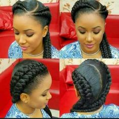40 Ghana Braids Styles Ghana braids are growing in popularity and are a wonderful style. Check out these unique & hip styles of Ghana braids/Banana braids for your next braids hairdo! Ghana Braid Styles, Ghana Braids, African Braids, 2 Cornrow Braids, Ghana Style, African Hairstyles, Braided Hairstyles, Black Hairstyles, Protective Hairstyles