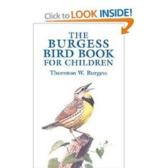 Burgess Bird Book. Not doing Charlotte Mason home ed, although you'd think it, wouldn't you? #childrensbooks