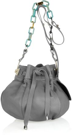 Contrast-strap Leather Bucket Bag - Lyst