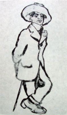 RIPPL-RÓNAI József: Endre Ady in Paris, 1910 Painting, Art, Craft Art, Painting Art, Kunst, Paintings, Drawings, Art Education, Sanat
