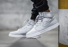The Air Jordan 1 KO High Pure Platinum Is Now Available