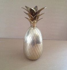Vintage Brass Pineapple, Iconic Symbol of Hospitality, Hollywood Regency In Style, From Not A Vintage Decor, Etsy Vintage, Vintage Shops, Pineapple Ice Bucket, Cocktail And Mocktail, Make Arrangements, Diamond Design, Hollywood Regency, Hospitality