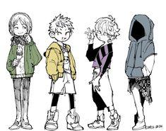 画像 Character Sketches, Anime Characters, Clothing, Drawing Things, Clothes, Outfit, Cartoon Characters, Vestidos, Character Concept