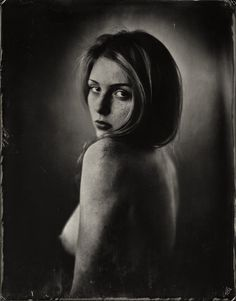 Portrait - Wetplate collodion on clear glass, 18x24cm
