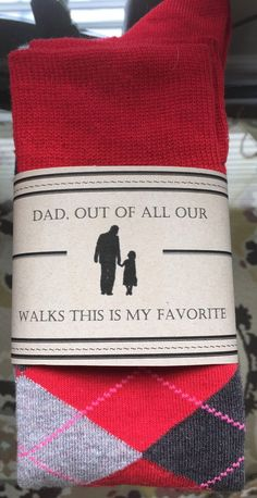 Father of the Bridal sock template/label, for your dad on the bid day