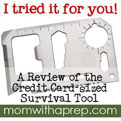 A Great Stocking Stuffer! Credit Card-sized Survival Tool