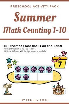 This fun Summer Math Activities for Preschool is perfect for engaging and exciting counting activities. Perfect for young learners to review their numbers 1-10. THIS pack includes both printable version and for Google Slides™ version. You can assign in either Google Classroom™ or print easily for students.