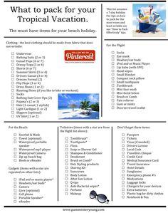 Ideas Travel Packing List Tropical Beach Vacations For 2019 Packing List For Vacation, Packing For A Cruise, Cruise Vacation, Travel List, Travel Packing, Vacation Destinations, Vacation Trips, Beach Vacations, Packing Lists