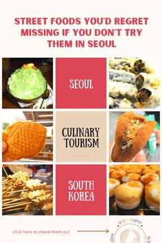 South Korea has a thriving street food culture & has must-visit street food markets such as Gwangjang market & Dongdaemun Market. But if you travel to Seoul as a first-timer, you may not know just what to eat while you're there. There is so much variety here that knowing which are the best of them or the street delicacies that you absolutely must try, comes as a big help. Click to see a list of top street foods in Seoul and find out not just what to east in Seoul but also where to eat it… Street Food Market, Korean Street Food, South Korea, Seoul, The Best, Travel Inspiration, Traveling By Yourself, Culture, Foods