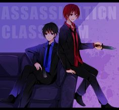 Assassination Classroom , Akabane Karma , Yuuma Isogai
