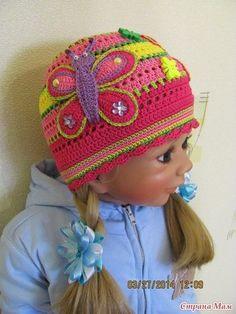 Delicadezas en crochet Gabriela: Gorro de niña