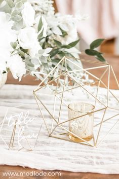 At Modlode we create modern, metallic decor for your special event. Lighted Centerpieces, Cake Table Decorations, Wedding Table Centerpieces, Wedding Decorations, Wedding Ideas, Geometric Wedding, Geometric Shapes, Sage, Shower Ideas
