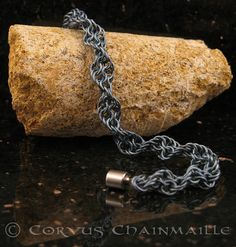 Inverted Spiral bracelet by Redcrow at Corvus Chainmaille