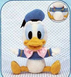 Baby Donald | AMIGURUMIES (free pattern but it is in Spanish)