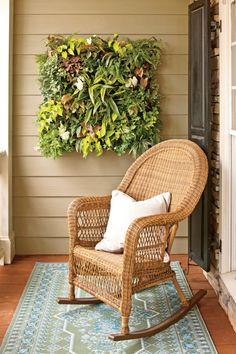 Transform any bare vertical spot into a lush living wall with this simple and smart planting system.Many outside walls are just blank canvases—you'd like to decorate them with colorful flowersand foliage but don't know how. Try this wall planting system that's inexpensive and easy to plant,hang, and maintain. The basic unit (kinsmangarden.com, $34.95) consists of a frame measuring14 inches tall and wide by 5 inches deep. It's lined with a coco-fiber mat with planting holes cut intothe…
