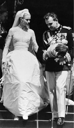 The 18 Best Celebrity Wedding Dresses Of All Time via @WhoWhatWear. Grace Kelly Wedding Dress to the Prince of Monaco