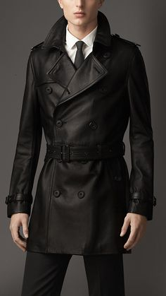 Burberry | Mid-Length Lambskin Trench Coat