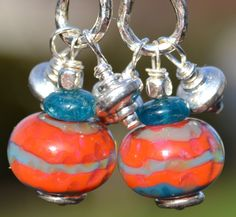 TAHITIAN SUNSETHandmade Lampwork and Sterling Silver