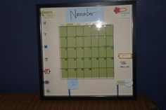 I finished my project.  Ikea frame turned into a dry erase calendar.