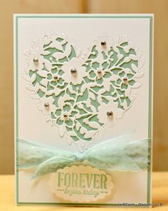 JanB Handmade Cards Atelier: Bloomin' Heart Wedding Card - SU