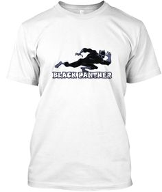 Black Panther T Shirt   The Movies White áo T-Shirt Front