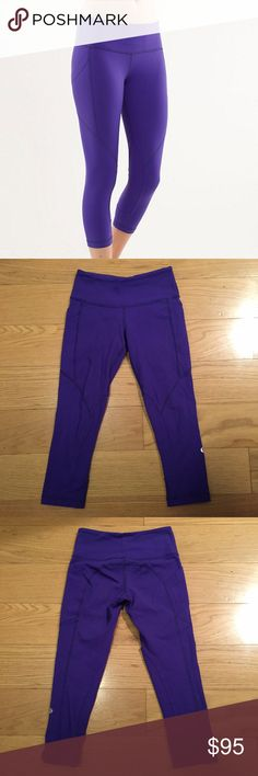 Lululemon RARE Polocrosse Pant Lululemon Polocrosse Pant. -Beautiful purple color. -Size 2. -Cropped. -Great condition. No pilling. Only defect is a small mark on right buttock.  NO Trades. Please make all offers through offer button. lululemon athletica Pants